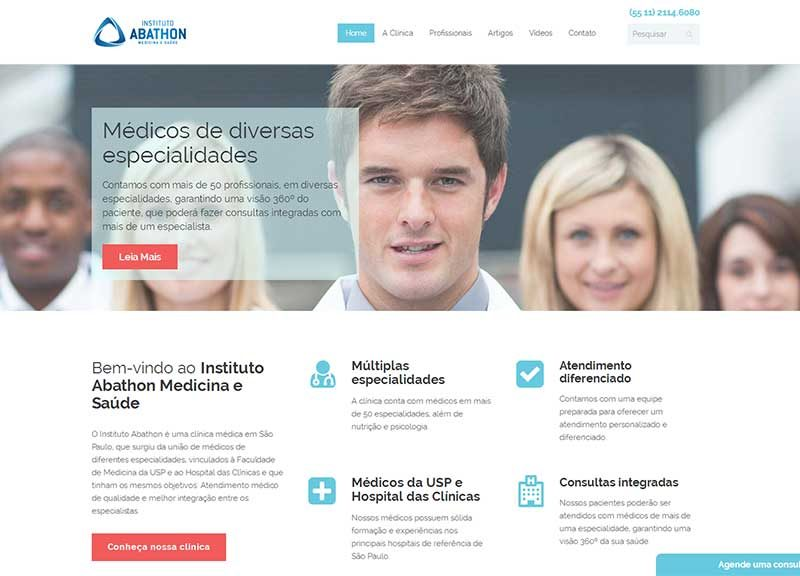 Website Abathon – Clínica em SP