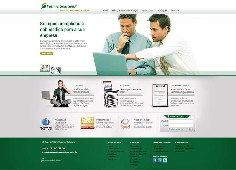 Website premier contabilidade