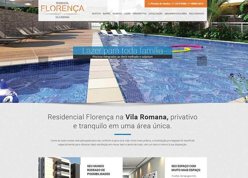 Hotsite Florença – Imobiliário